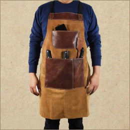 Suede Rugged Apron - Shop Work Tool Apron