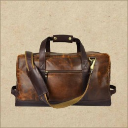 Leather Weekender Bag - Overnight Travel Duffle Bag