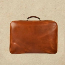 Leather Weekender Bag - Overnight Travel Duffel Bag